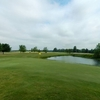 A view of the 18th green at Darby Creek Golf Course
